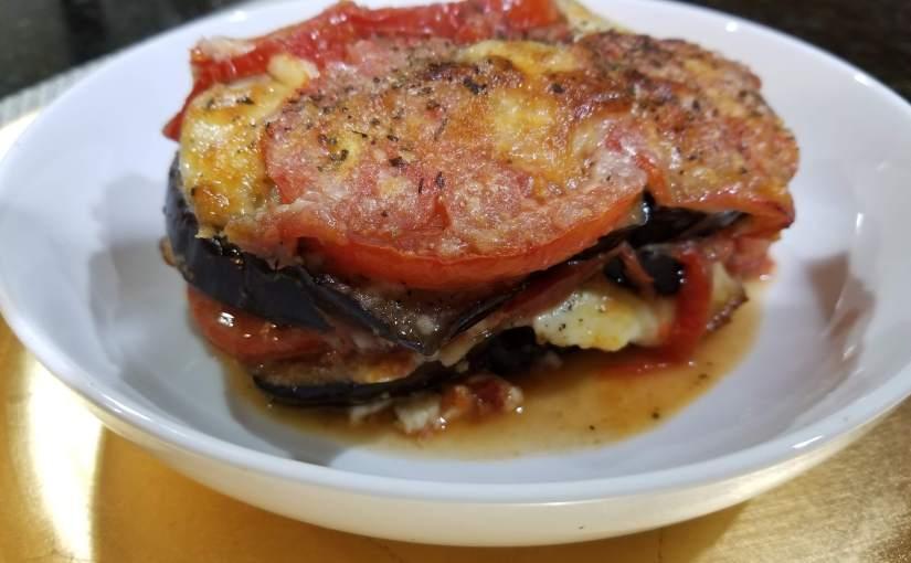 Lazy Eggplant Parmesan