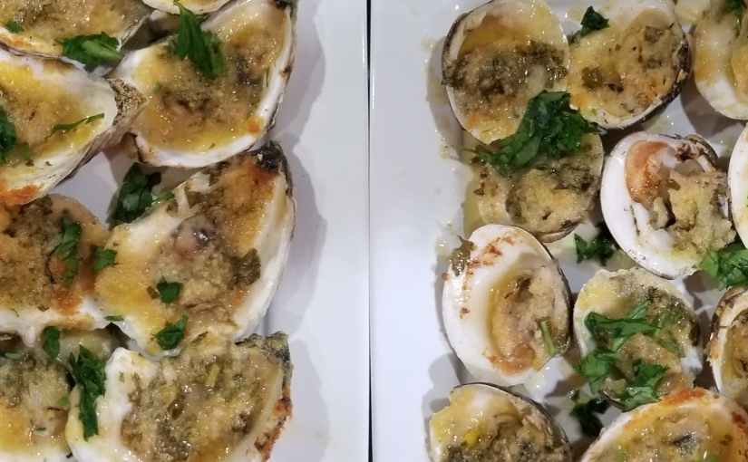 Oh My! Homemade Pasta and Sauces, Carbonara Arancini, Caesar Dressing, Sausages, Chargrilled Oysters &Clams